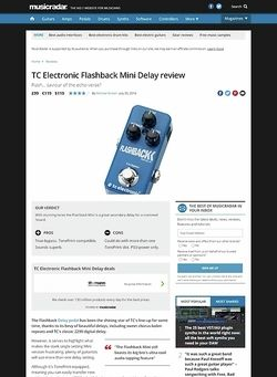 MusicRadar.com TC Electronic Flashback Mini Delay