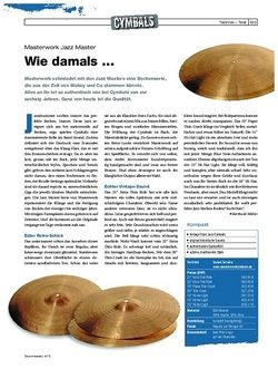 Drumheads Test Masterwork Jazz Master Cymbals