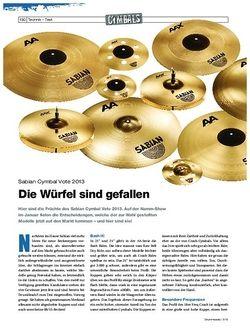 Drumheads Test Sabian Cymbal Vote 2013 Gewinner
