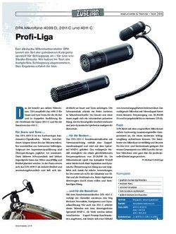Drumheads DPA Mikrofone 4099 D, 2011 C und 4011 C