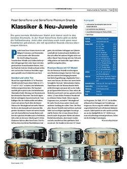 Drumheads Pearl SensiTone und SensiTone Premium Snaredrums