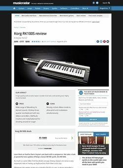 MusicRadar.com Korg RK100S