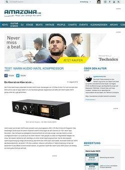 Amazona.de Test: Warm Audio WA76, Kompressor
