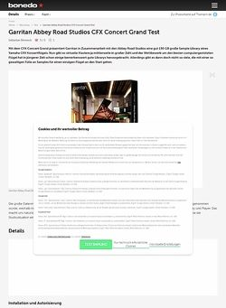 Bonedo.de Garritan Abbey Road Studios CFX Concert Grand