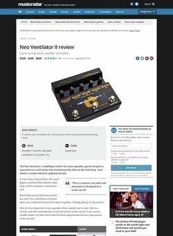 MusicRadar.com Neo Ventilator II