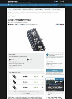 MusicRadar.com Xotic EP Booster