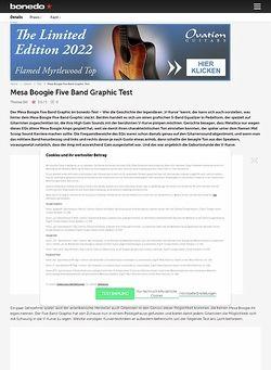 Bonedo.de Mesa Boogie Five Band Graphic