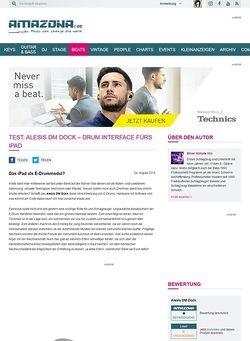 Amazona.de Test: Alesis DM Dock - Drum Interface fürs iPad