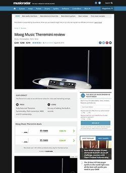 MusicRadar.com Moog Music Theremini