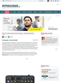 Amazona.de Test: Korg SDD-3000 Pedal, Effektgerät für Gitarre