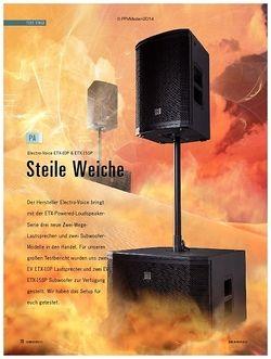 Soundcheck Electro-Voice ETX-Serie
