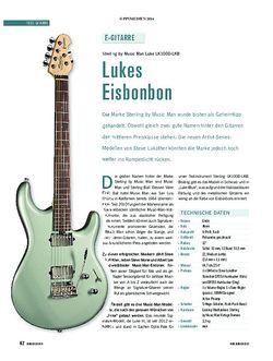 Soundcheck Test Gitarre: Sterling by Music Man Luke LK100D-LKB