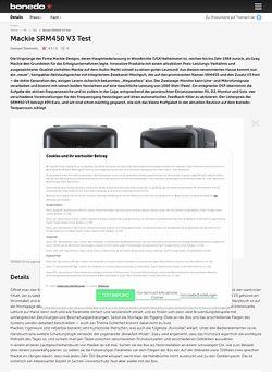 Bonedo.de Mackie SRM450 V3 Test