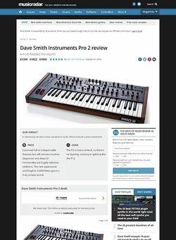 MusicRadar.com Dave Smith Instruments Pro 2