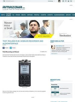 Amazona.de Test: Roland R-26, Mobiler Rekorder und Audiointerface