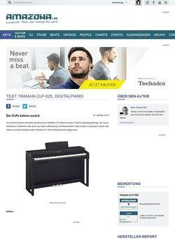 Amazona.de Test: Yamaha CLP-525, Digitalpiano