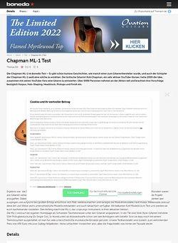 Bonedo.de Chapman ML-1 Test