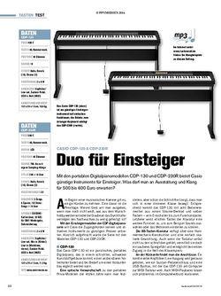 Tastenwelt Casio CDP-130 & CDP-230R