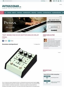Amazona.de Test: Ibanez ES2 Echo Shifter Analog Delay, Effektgerät für Gitarre