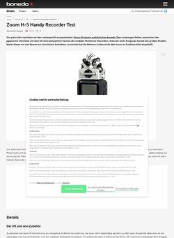 Bonedo.de Zoom H-5 Handy Recorder