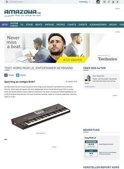 Amazona.de Test: Korg Pa3X LE, Entertainer Keyboard