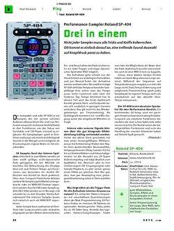 KEYS Test: Performance-Sampler Roland SP-404