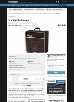 MusicRadar.com Vox AC4C1-12