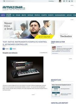 Amazona.de Test: Native Instruments Komplete Kontrol S, Keyboard Controller