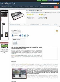 Audiofanzine.com Akai APC Key 25