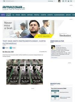 Amazona.de Test: Dave Smith Instruments DSM01, Curtis Filter Module