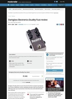 MusicRadar.com Darkglass Electronics Duality Fuzz