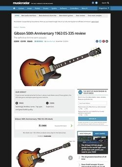 MusicRadar.com Gibson 50th Anniversary 1963 ES-335