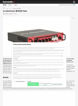 Bonedo.de TC Electronic BH550 Basstopteil