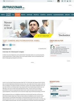Amazona.de Test: Cordial Multicoresystem, Kabel