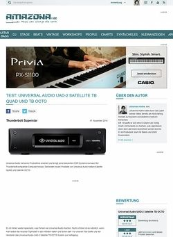 Amazona.de Test: Universal Audio UAD-2 Satellite TB OCTO, DSP System