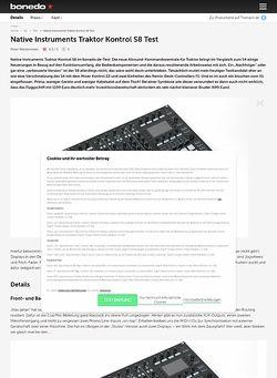 Bonedo.de Native Instruments Traktor Kontrol S8