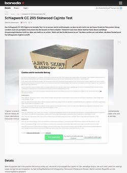 Bonedo.de Schlagwerk CC 205 Skinwood Cajinto