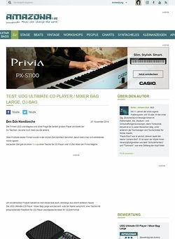 Amazona.de Test: UDG Ultimate CD Player / Mixer Bag Large, DJ-Bag