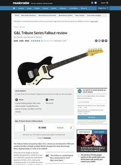 MusicRadar.com G&L Fallout