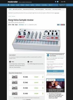 MusicRadar.com Korg Volca Sample