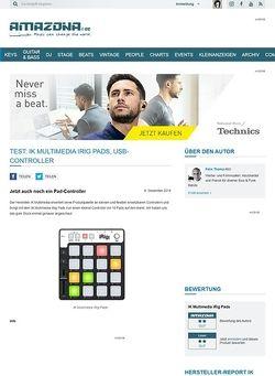 Amazona.de Test: IK Multimedia iRig Pads, USB-Controller