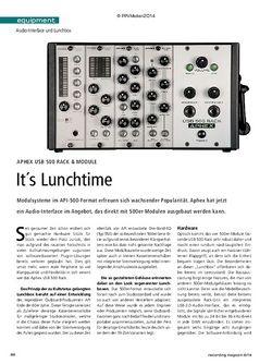 Recording Magazin Aphex USB 500 Rack