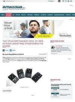 Amazona.de Test: Moog Minifooger MF Drive, MF Trem, MF Boost und MF Ring, Effektgeräte für Gitarre