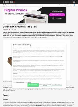 Bonedo.de Dave Smith Instruments Pro 2