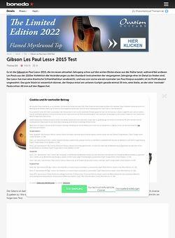 Bonedo.de Gibson Les Paul Less+ 2015 Test