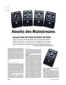 Gitarre & Bass Moog MF-RING, MF-TREM, MF-BOOST, MF-DRIVE, FX-Pedals