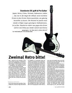 Gitarre & Bass Danelectro DE 59M & Pro Guitar, E-Gitarren