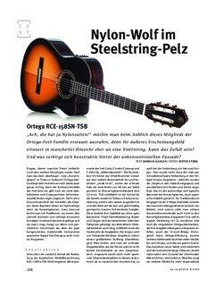 Gitarre & Bass Ortega RCE-158SN-TSB Nylonstring