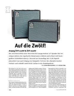 Gitarre & Bass Ampeg SVT-112AV & SVT-212AV, Bass-Boxen