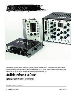 Sound & Recording Aphex USB 500 - Modulares Audiointerface